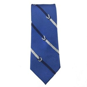 Tommy Hilfiger Neck Tie Blue Square Knot Striped